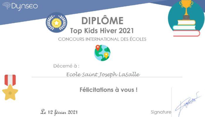 Concours international des écoles «Top Kids»